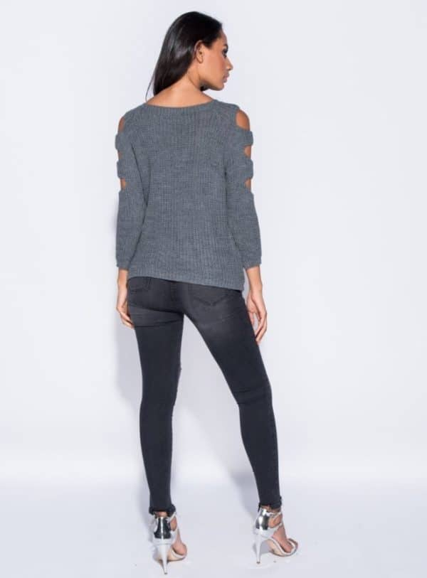 Sveter Cut Out Sleeve 3