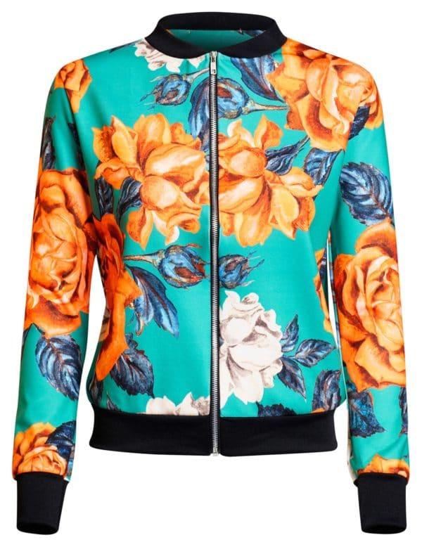damska bunda floral detail